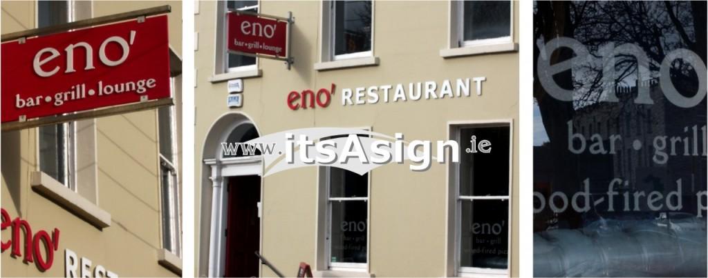 complete signage for new restaurant in dundalk