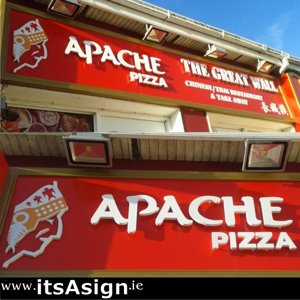 white letters on red background to create stunning signs in clogherhead