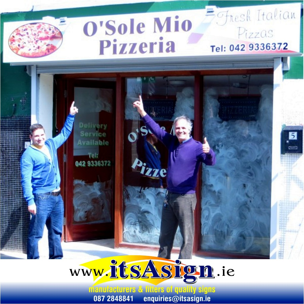 signs mage in dundalk for above shop front