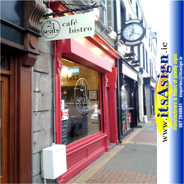 new signs applied to cafe bistro in dundalk