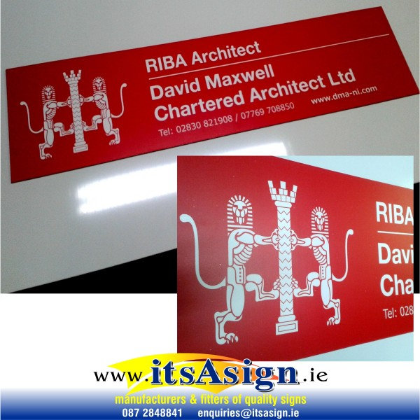 professional name board for architect office