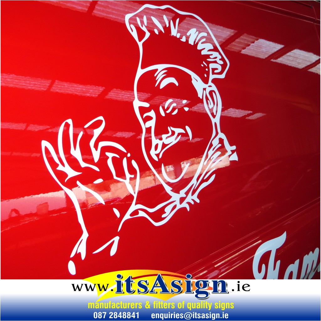 graphics-decals-by-local-dundalk-sign-company-on-red-van