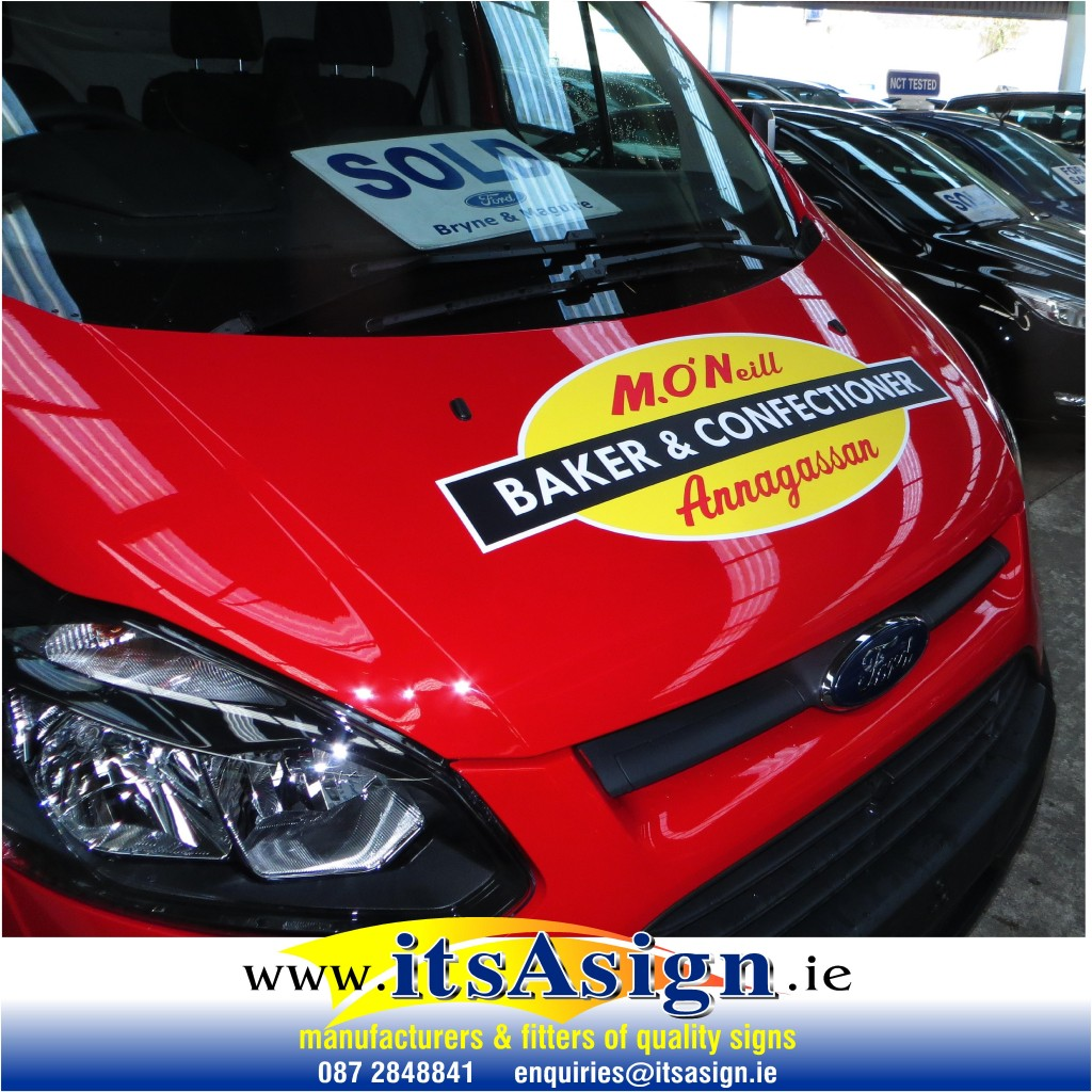 signs on red van by signmakers in annagassan dundalk